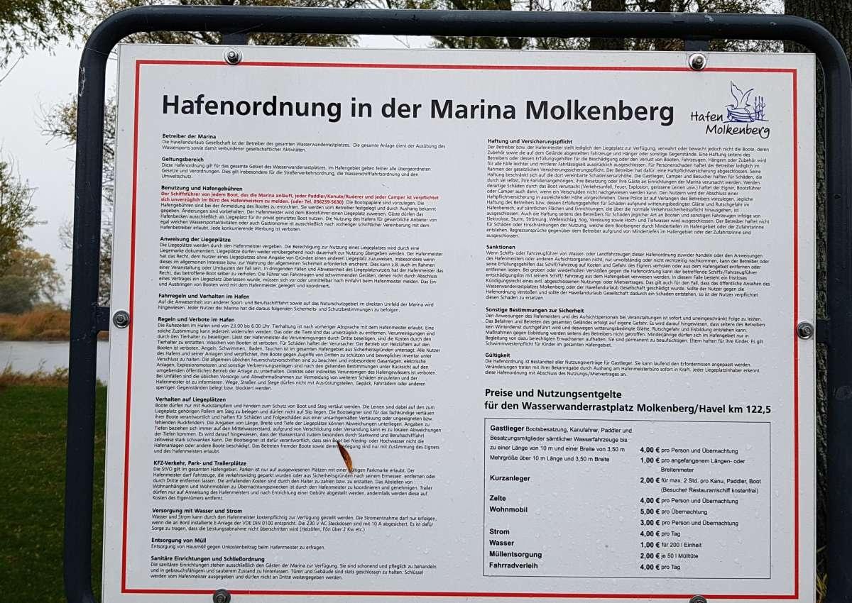 Anlegestelle Molkenberg am alten Bollwerk - Hafen bei Molkenberg