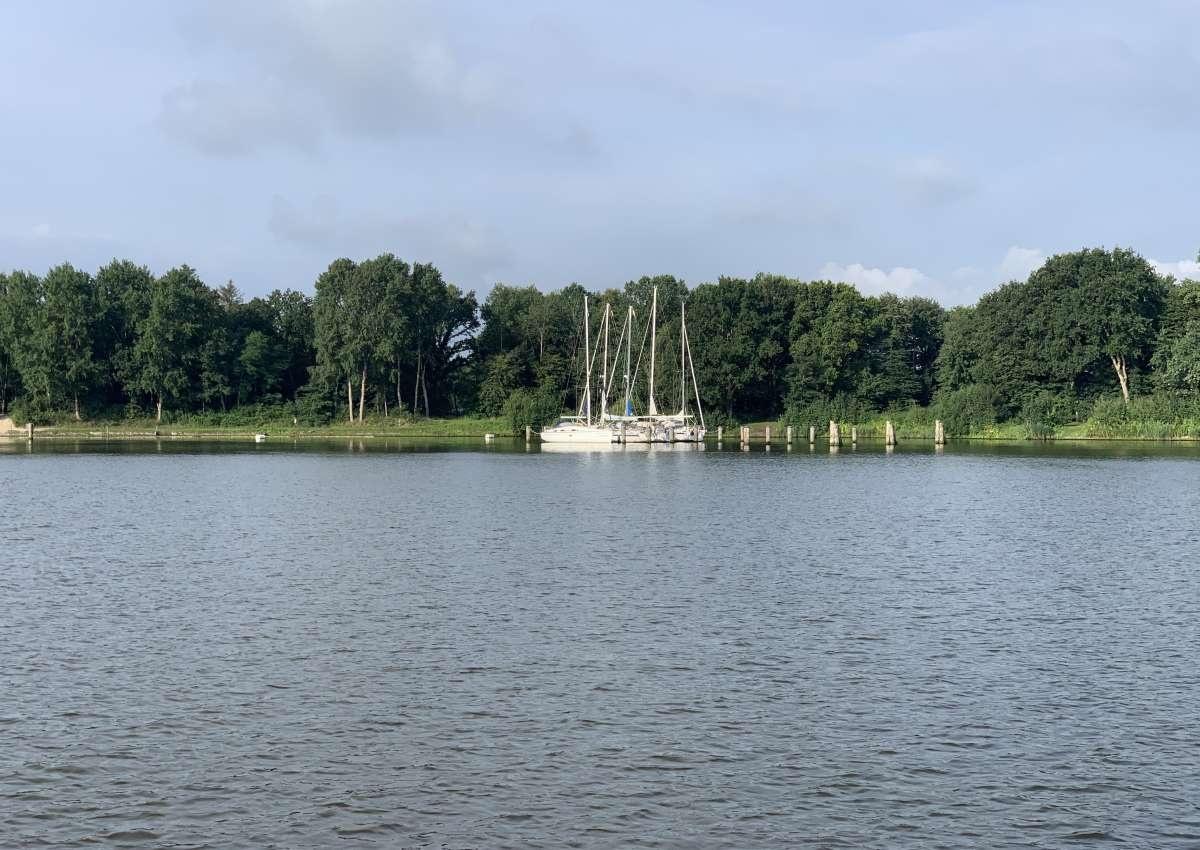 NOK Liegestelle für Sportboote Weiche Dückerswisch - Ankerplatz bei Hochdonn